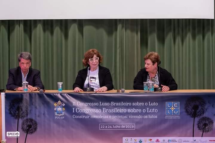 António, maria Helena, Maria Julia Kovács - Congresso Luto 2019